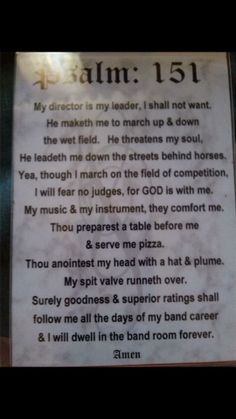 Band director.... - Are you DrumCorpsReady.com