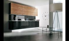 cuisine noire et bois meuble laqué