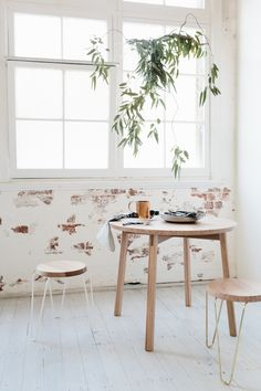 9 Reasons Why Living with Plants is Kind of the Best. - Nine reasons why living with plants is kind of the best! Visit the post for tons of houseplant insp - Home Design, Design Design, Rooms Ideas, Estilo Interior, Drop Leaf Table, The Design Files, Home And Deco, Interior Exterior, Breakfast Nook