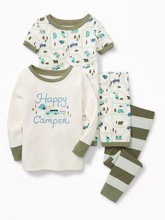 """Happy Camper"" 4-Piece Sleep Set for Toddler & Baby"