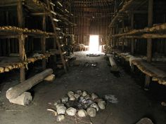 INUIT & IROQUOIS: The Iroquois - inside a longhouse