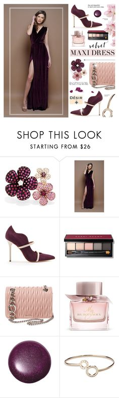 """""""DesirVale 2"""" by cly88 ❤ liked on Polyvore featuring Effy Jewelry, Malone Souliers, Bobbi Brown Cosmetics, Miu Miu, Burberry, Piaget and plus size dresses"""