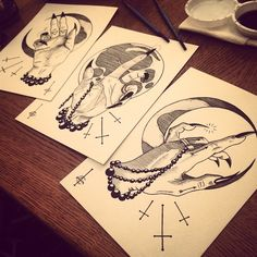 slightly larger than the first Chirology series.Limited edition of 10 sets.Individually signed and numbered. Tattoo Inspiration, Design Inspiration, Outline Designs, Dark Tattoo, Tea Cakes, Body Mods, Limited Edition Prints, Cake Art, Beautiful Tattoos