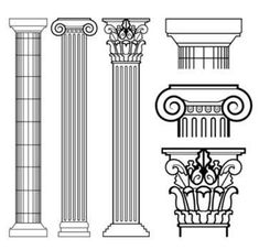 Everything You Want to know About Ancient Greek Architecture - skizzen - Architecture Antique, Renaissance Architecture, Ancient Greek Architecture, Cultural Architecture, Classical Architecture, Ancient Greek Art, Ancient Greece, Roman Columns, Corinthian Columns