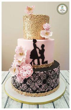Inspirational Spring Decorated Cakes Source by ewajuliak Wedding Cake Rustic, Beautiful Wedding Cakes, Beautiful Cakes, Amazing Cakes, Engagement Cake Design, Engagement Cakes, Bolo Fack, Spring Cake, Wedding Cake Inspiration