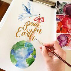 3 Brushes for DIY Holiday Calligraphy   Princeton Brush Company