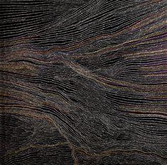 Dorothy Napangardi;  Sandhills of Mina Mina;  2002; synthetic polymer paint on linen;  152cmx152cm;