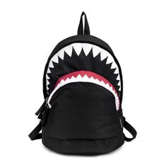 Cool Schoolbag Big Shark Cartoon Backpack Black Bookbags Fashion primary school Backpacks Boys Rucksack Bagpack