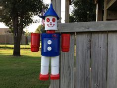 Patriotic Yard Art Recycled Can Tin Man with by OptionalTasking, $40.00