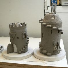 Make a sand castle out of ceramics! Can have different, though lock-able parts, so that it can be fired more easily
