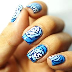 22 Stylish Nail Art Designs-I like this design but in another color