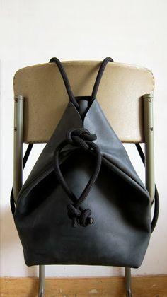 chris van veghel   handmade bags: minimal rucksack black