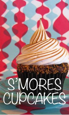 Chocolate Graham Cracker Cupcakes with Toasted Marshmallow | Martha Stewart Living - This delicious recipe is courtesy of Jennifer Shea, owner of Trophy Cupcakes.