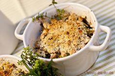 Crumble de courgettes aux parmesan, amandes, thym et farine de châtaigne