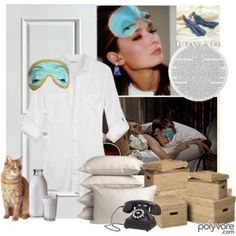love the iconic eye mask and ear plugs worn in the movie breakfast at tiffanys by holly golightly