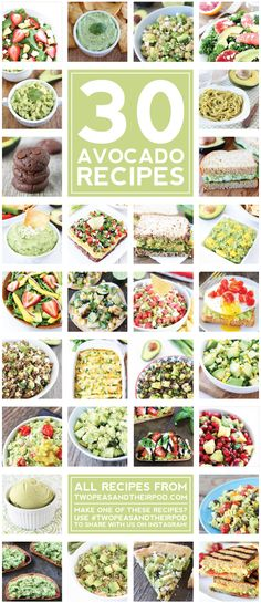 30 of the BEST Avocado Recipes on twopeasandtheirpod.com I want to make them ALL!