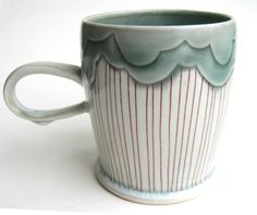 This listing is for one made to order mug. Please allow 4-6 weeks for delivery!    Hand made wheel thrown cone 10 reduction porcelain with