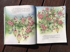 I love, love, loved doing this page. #cherryblossom #johannabasford #ivyandtheinkybutterfly