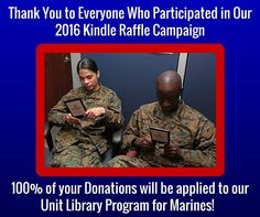 Thank you to everyone who donated to our Unit Library Program. Read more about the program and how it supports Marines: https://www.mcafdn.org/program/commanders-unit-library-program