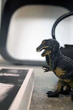 Greyish dinosaur