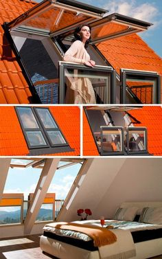 Expand on Demand: Secret Deck Spaces for Small Dwell Attic Spaces, Attic Rooms, Roof Design, House Design, Loft Room, House Extensions, Design Case, My Dream Home, Future House