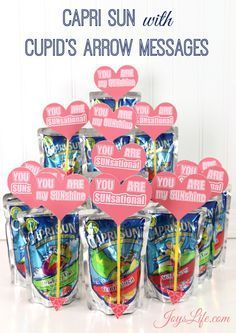 Capri Sun You are my sunshine. You are Sunsational Valentine's Day Party Ideas and Paper Fortune Cookie Tutorial