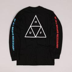 HUF LS Multi Triple Triangle Tee Black