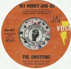 THE EMOTIONS My Honey & Me / Blind Alley NORTHERN SOUL R&B 45 RPM RECORD