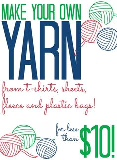 Make Your Own Craft Supplies: DIY Yarn - All Cheap Crafts