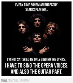 """""""Bohemian Rhapsody"""" is a song by the British rock band Queen. It was written by Freddie Mercury for the band's 1975 album """"A Night at the Opera"""". In """"Bohemian Rhapsody"""" was inducted into the Grammy Hall of Fame. Brian May, John Deacon, Pop Rock, Rock And Roll, Dieter Thomas Heck, Kim Wilde, Queen Ii, Mike Shinoda, We Will Rock You"""