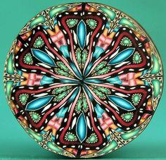 Polymer Clay Kaleidoscope Circle Cane  'Grand by ikandiclay, $13.00
