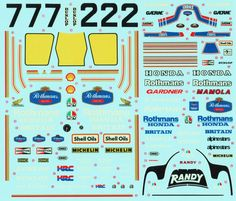 Tamiya, Britain, Honda, Decals, Map, Model, Tags, Sticker