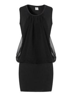 Woman Chiffon Stitching Dress Sleeveless Solid Color Mini Dresses