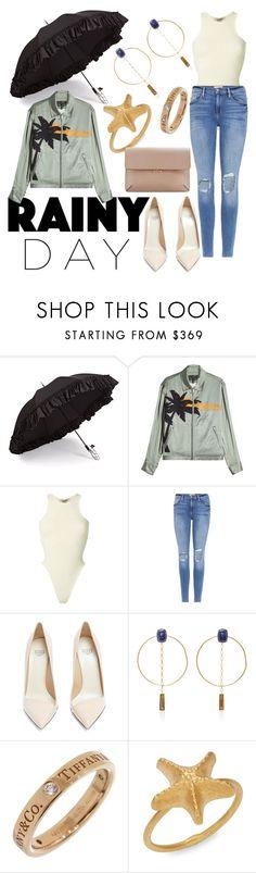 """""""#rainyday #glam outfit ☔☔☔"""" by yatsina ❤ liked on Polyvore featuring Gizelle Renee, rag & bone, Yeezy by Kanye West, Frame, Francesco Russo, Isabel Marant, Tiffany & Co., Valentino and MANGO"""