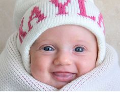 Knit Baby Hat - Personalized for Baby or Toddler as seen on the Today Show!