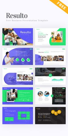 Free Resulto Business Presentation Template #PowerPoint #PPT #template #free