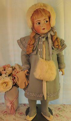"""29"""" Kammer Reinhardt 117N Flirty Eyes Antique German Bisque Doll Antique Doll   eBay"""