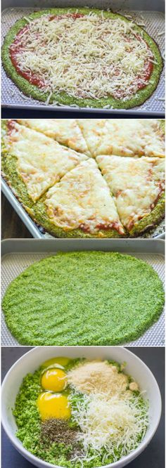 Broccoli Crust Pizza ( Paleo, Low-carb, Gluten free) - food, healthy, recipes