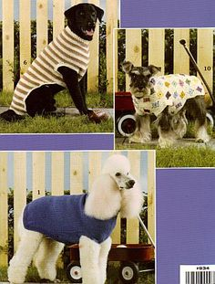 CROCHET & KNIT PATTERNS SWEATERS For Dogs