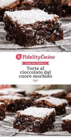 Chocolate cake with a soft heart-Torta al cioccolato dal cuore morbido Chocolate cake with a soft heart - Italian Desserts, Italian Recipes, Mexican Food Recipes, Sweet Recipes, Cake Recipes, Dessert Recipes, Italian Dishes, Chocolate Recipes, Chocolate Cake