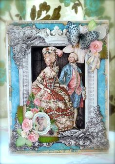 Synnøves Papirverksted: Vintage and romantic card, Graphic45, wedding card