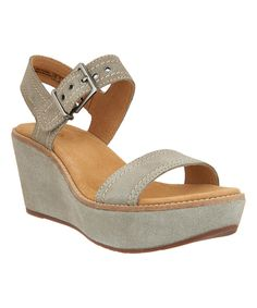Take a look at this Sage Aisley Orchid Suede Sandal today!