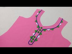 latest and too beautiful neck design (easy method) cutting and stitching – dressideas Churidhar Neck Designs, Neck Designs For Suits, Blouse Back Neck Designs, Neckline Designs, Blouse Designs, Design Your Own Dress, Baby Dress Design, Diya Designs, Rangoli Designs