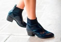 #Zara- #ZARAPICTURES  #botin #boot piel caña neopreno