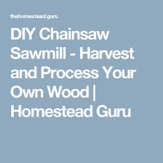 DIY Chainsaw Sawmill - Harvest and Process Your Own Wood | Homestead Guru