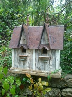 Birdnhouse from Floorboards of a 1920's general store!