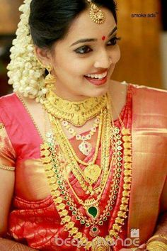 bridal set collection gold jewellery kerala - Google Search