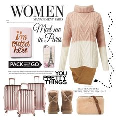 """""""Pack & Go to  Paris"""" by conch-lady ❤ liked on Polyvore featuring Current/Elliott, Express, Casetify, Miss Selfridge, UGG, Wall Pops!, paris and Packandgo"""