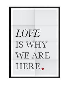 Póster Enmarcado Love Is Whay