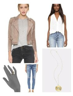 Swap your go-to leather jacket this Spring for this soft, suede moto - perfect for pairing with your favorite denim & white blouse!